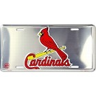 St. Louis Cardinals Polished License Plate