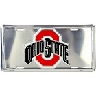 Ohio State Buckeyes Red O License Plate