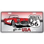See the USA Corvette License Plate