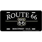 Route 66 Main St License Plate