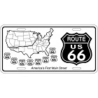 Route 66 Shield License Plate