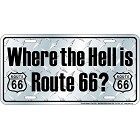 Where Route 66 License Plate