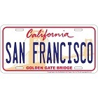 San Francisco License Plate