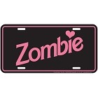 Zombie Doll License Plate