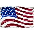 US Flag Corrugated Large Sign