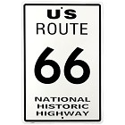 Route 66 Large Parking Sign