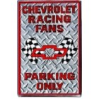 Chevy Racing Fans Large Parking Sign