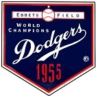 Los Angeles Dodgers Home Plate 12 inch Square Metal Sign