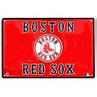 Boston Red Sox Horiz Flag Large Parking Sign