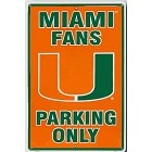 University of Miami Large Parking Sign