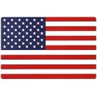 American Flag Large Parking Sign