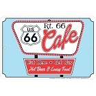 Route 66 Cafe Sm. Parking Sign