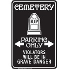 Cemetery Sm. Parking Sign