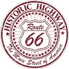 Route 66 Historic Round Sign