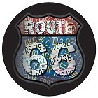 Route 66 Plates Round Sign