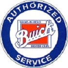 Buick Authorized Service Round Sign