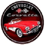 Chevy Corvette Car Round Sign