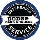 Dodge Dependable Service Round Sign