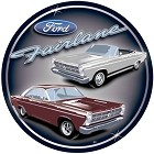 Ford Fairlane Collage Round Sign