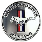 Ford Mustang Silver Round Sign