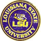 Louisiana State Tigers Round Sign