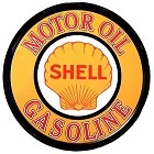 Oil - Shell Motor - Gas Round Sign