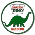 Oil - Sinclair Dino Round Sign