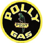 Oil - Polly Gas Round Sign