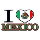I Love Mexico Large Sticker