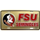 Florida State Seminoles Gold License Plate