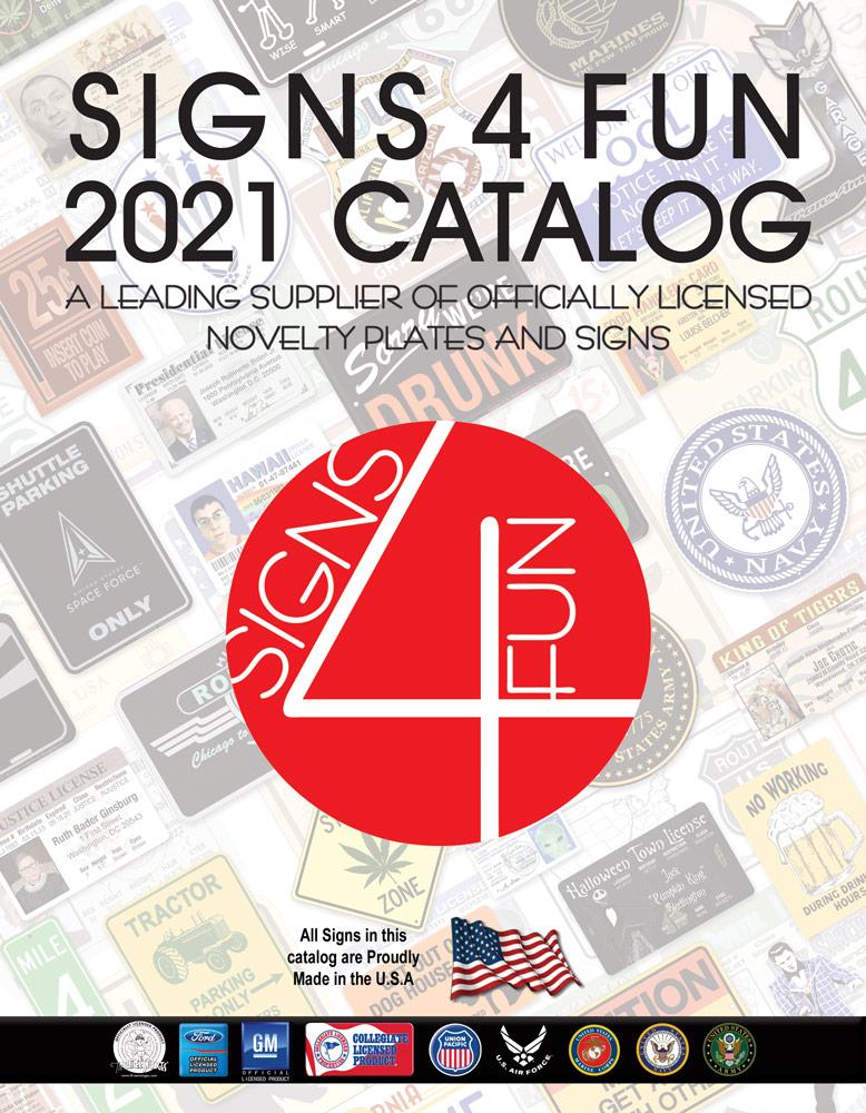 Signs 4 Fun 2021 Catalog Cover