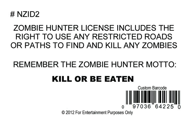 Signs 4 Fun Slzpb Zombie Doll License Plate