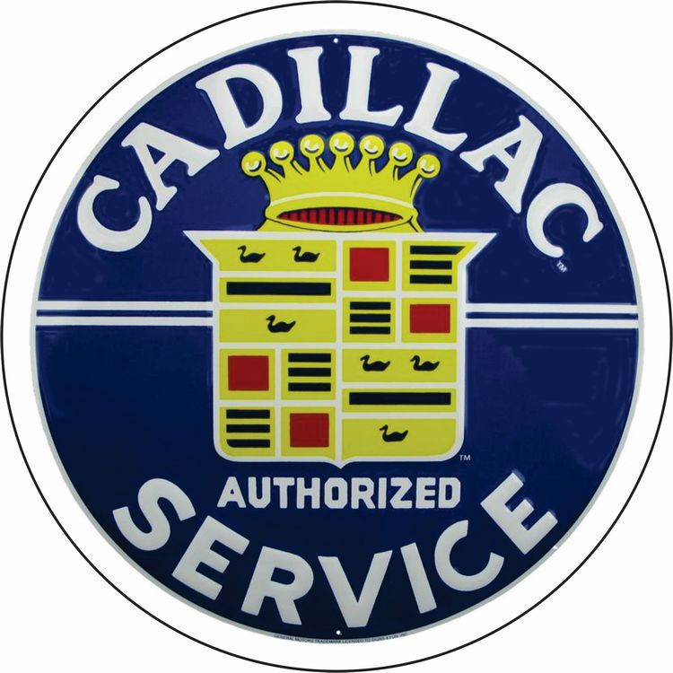 Cadillac Service 24 in. Large Round Sign | Signs 4 Fun