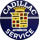 Cadillac Service 24 inch Large Round Sign