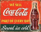 We Sell Coca-Cola Metal Tin Sign
