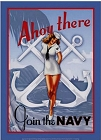 Navy Girl - Ahoy There Metal Sign