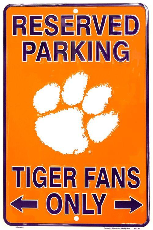 License Plate Signs 4 Fun Slcct Clemson Tigers
