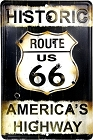 Route 66 America's Hwy Sm. Parking Sign