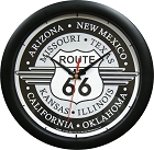 Route 66 Deco 12 in. Round Clock