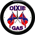 Oil - Dixie Gas 12 inch Round Wall Clock