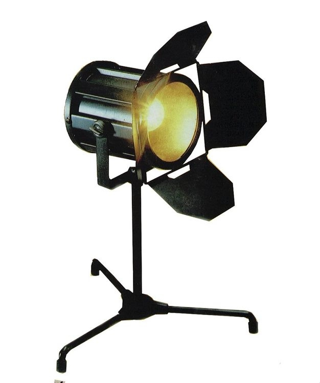 1930s Style Hollywood Studio Lamp Black