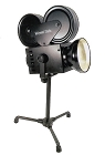 1930s Style Hollywood Camera Lamp Black