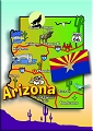 Arizona Map Magnet