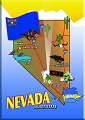 Nevada State Map Magnet