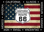 Route 66 Shield And Flag Magnet