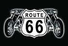 Route 66 Shields with Bikes Magnet