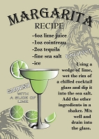Margarita Recipe Magnet