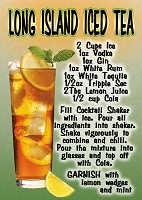 Long Island Iced Tea  Recipe Magnet