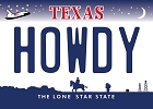 Texas Howdy Magnet