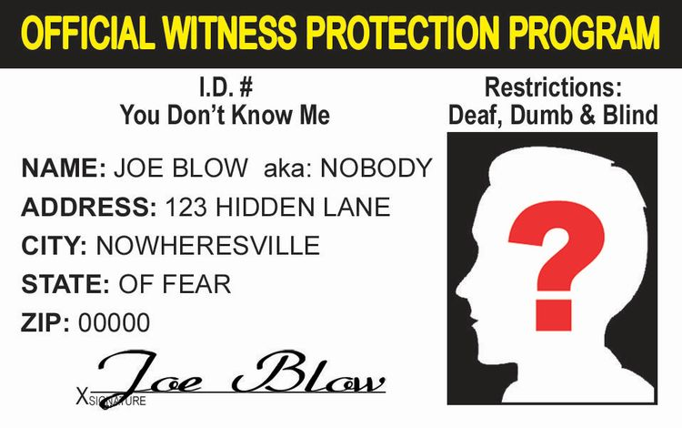 Witness Protection ID